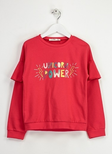 Morhipo Kids Unicorn Sweatshirt Fuşya